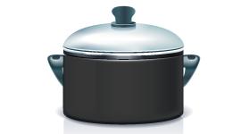 Темная посуда быстрее нагревается